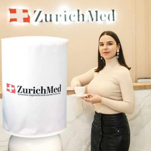 Чехол на бутыль 19л для кулера клиники европейской косметологии ZURICHMED