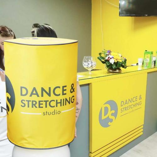 Чехлы на кулеры фитнес студии DANCE & STRETCHING STUDIO